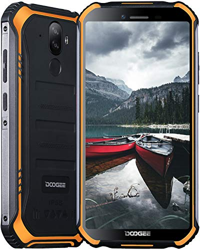 Rugged Phone, DOOGEE S40 Pro Rugged Smartphone Waterproof Mobile Phone, Android 10, 4G Dual SIM, 4GB + 64GB, 5.45 inches HD+ Screen, 13MP + 5MP Camera, 4650mAh Battery, NFC/GPS, UK Version - Orange