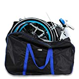 Huntvp Folding Bike Travel Bag Bicycle Transport Carrying Case with a Carry Bag for 14-20inch Folding Bike Foldaway Bicycle (Blue)