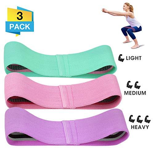 CAMTOA Bande Elastiche Fitness Estensori torace Fasce di resistenza in tessuto Anelli per esercizi...