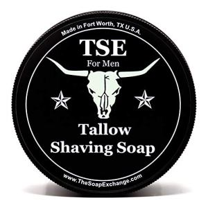 TSE for Men Espresso Shaving Soap with Tallow and Shea Butter. Natural Ingredients for Rich Lather...