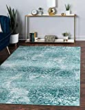 Unique Loom Sofia Collection Area Traditional Vintage Rug, French Inspired Perfect for All Home Décor, 4' 0 x 6' 0 Rectangular, Turquoise/Ivory