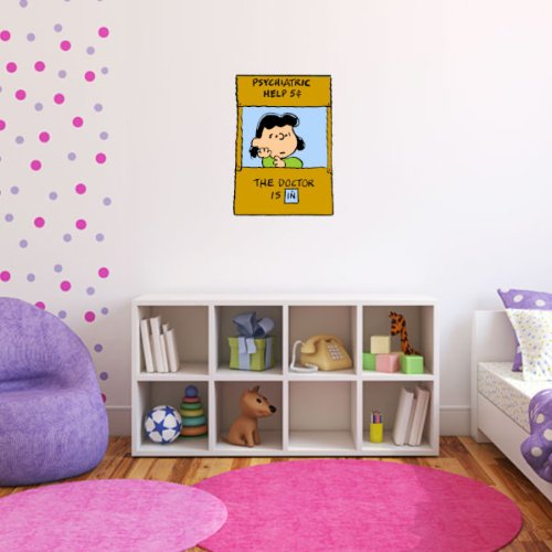 Lucy Doctor is in Peanuts Snoopy Wall Graphic Decal Sticker 25