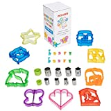 JOSH TAYLORS Sandwich Cutters for Kids, Turn Vegetables, Fruits, Cheese, and Cookie Into Funbites - Add to Bento Box and Lunch Box - Toddlers Boys and Girls - Easy to Use