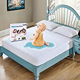 Full Size Mattress Protector Waterproof Mattress Pad Cover Breathable Noiseless Deep Pocket Bed Cover for 6-14' Pad - Soft Washable Vinyl Free (Full)