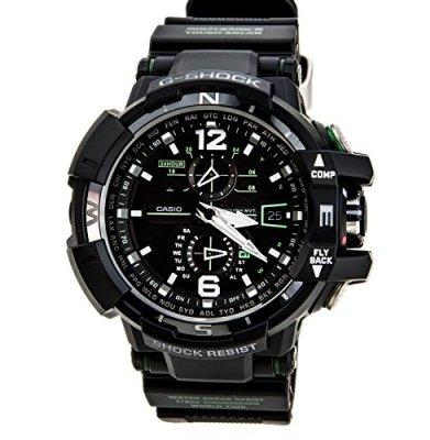Casio G-Shock GWA-1100-1A3 G-Aviation Series Men's Stylish Watch - Black/One Size