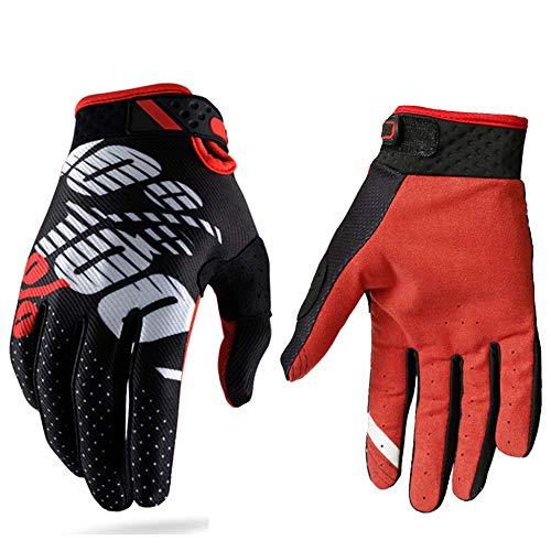 Guantes de carreras de motocross para hombres y mujeres; guantes deportivos con dedos completos en...