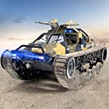 Ruko RC Tank, 1:12 Scale All Terrain Remote Control Cars for Adults, High Speed Spraying RC Trucks...