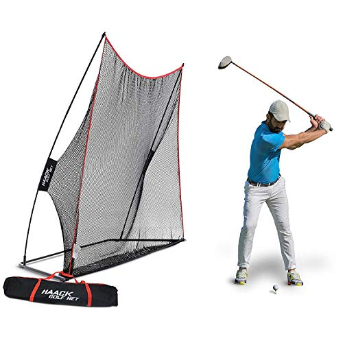 Rukket 10x7ft Haack Golf Net | Practice Driving Indoor and Outdoor | Golfing at Home Swing Training Aids | by SEC Coach Chris Haack