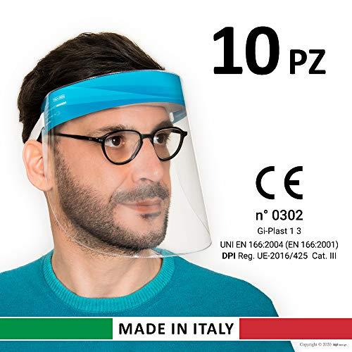 Gi-Plast Visiera Protettiva Paraschizzi Made In Italy Dispositivo di Protezione Individuale cat.III...