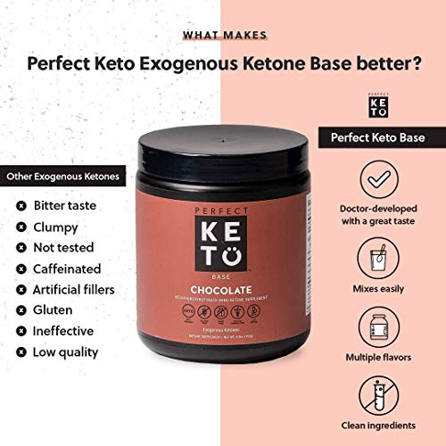 Exogenous Ketones Powder, BHB Beta-Hydroxybutyrate Salts Supplement, Best Fuel for Energy Boost, Mental Performance, Mix in Shakes, Milk, Smoothie Drinks for Ketosis – New Chocolate, 9.0 oz (255 grs) 7