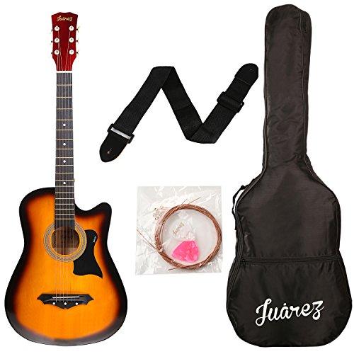 JUAREZ JRZ38C Right Handed Acoustic Guitar (Sunburst, 6 Strings)