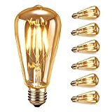 Ampoule LED Edison,Samione Lampe Décorative Ampoules à incandescence...