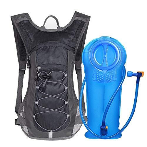 Unigear Trinkrucksack mit 2L Trinkblase Hydrationspack Fahrradrucksack für Joggen, Wandern, Radfahren, Camping und Bergsteig MEHRWEG (Carbon Black)