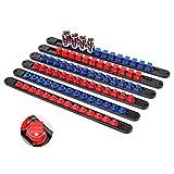 Makitoyo 360° Swivel ABS Socket Organizer, 1/4-Inch, 3/8-Inch, 1/2-Inch, Socket Holders (6-Piece Set, Blue & Red) Tools Organizer