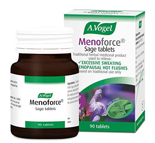A.Vogel Menoforce Salbei Tabletten | für Menopausale Hitzewallungen & Nachtschwitzen | Ein-täglich, 90 Tabletten