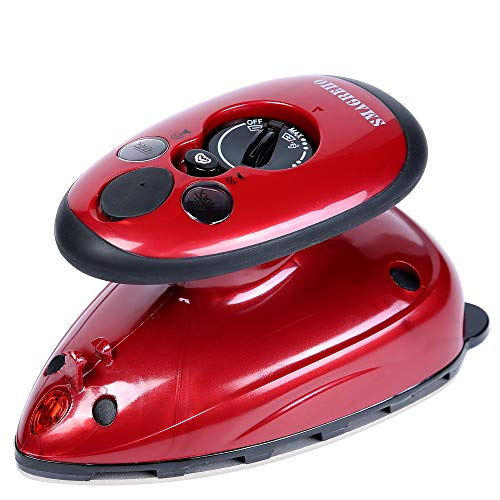 SMAGREHO Mini Travel Steam Iron with Dual Voltage, Anti Slip Handle and Non-Stick Teflon Soleplate Iron