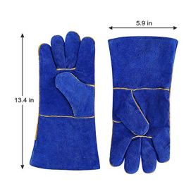 DEKO-Welding-Gloves-14-inch-Leather-Forge-Heat-Resistant-Welding-Glove-for-Mig-Tig-Welder-BBQ-Furnace-Camping-Stove-Fireplace-and-More-Blue