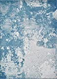 Luxe Weavers Abstract Blue 5x7 Area Rug