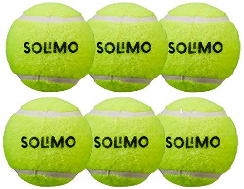 Amazon Brand - Solimo Rubber Tennis Cricket Ball, Set of 6