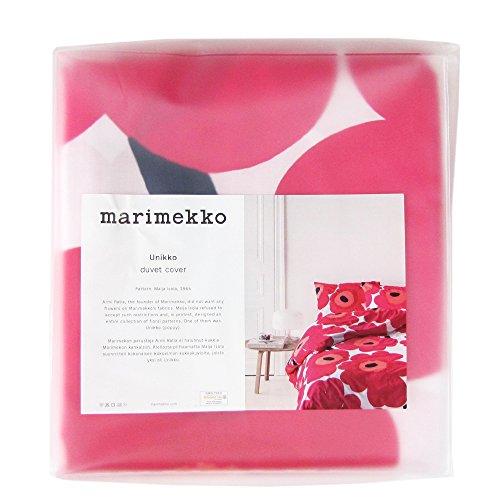 マリメッコ(marimekko) ウニッコ UNIKKO 布団カバー(デュベカバー) 67676-001 150x210cm レッド [並行輸入品]