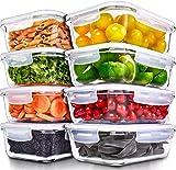 Recipientes para Alimentos [8 Pieza 1000 ml] -Recipientes de...