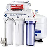 iSpring RCC7AK-UV, NSF Certified, 75GPD 7-Stage Under Sink Reverse Osmosis RO Drinking Water Filtration System with Alkaline Remineralization Filter and UV Ultraviolet Filter