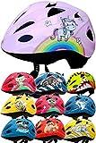SkullCap® Casco per Bambini Progettato dai Bambini Casco da Bicicletta, Unicorno, S (48 - 52 cm)