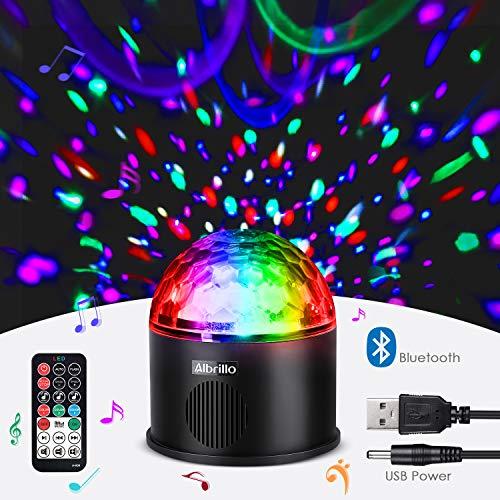 Albrillo Luci Discoteca LED - Lampada da Palco con Altoparlante Bluetooth, USB e Wireless...