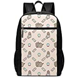 Yuanmeiju Candy Cat Unisex Unique Bolsas de Hombro,Adult Student Double Zipper Closure Bolso de Escuela Informal