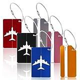 6pcs Equipaje de Etiqueta de Aluminio ZoomSky Tarjeta para Maleta de Colores Varios de identificación de portatarjetas