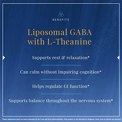 Quicksilver Scientific Liposomal GABA with L-Theanine - Liquid Calming Support, Sleep + Stress Response Support - Nano Technology for Superior Gamma Amino Butryric Acid Absorption (1.7oz / 50ml) 2