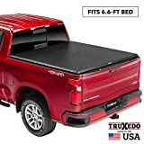 TruXedo TruXport Soft Roll Up Truck Bed Tonneau Cover | 271101 | fits 07-13, 2014 HD GMC Sierra & Chevrolet Silverado 1500/2500/3500 6'6' bed
