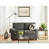 Mainstay Sofa Sleeper with Memory Foam Mattress   No-Tool Easy Assembly (Grey)