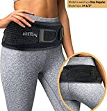 Sacroiliac Hip Belt for Women and Men That Alleviate Sciatic, Pelvic, Lower Back and Leg Pain, Stabilize SI Joint   Trochanter Belt   Anti-Slip and Pilling-Resistant (Black, Regular)