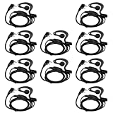 Retevis Two Way Radio Earpiece with Mic Single Wire Earhook Headset for Baofeng BF-888S UV-5R Retevis H-777 RT22 Arcshell AR-5 Walkie Talkies(10 Pack)