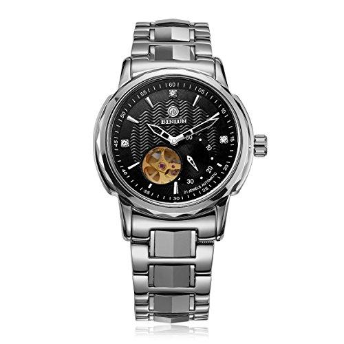 BINLUN Herren Automatische Mechanische Uhr Wasserdicht Edelstahl Armbanduhren für Herren