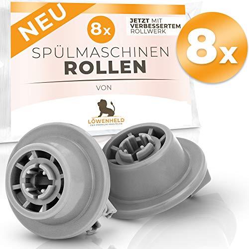 WENHELD [8 pezzi] Set di ruote per lavastoviglie Universale per molti BOSCH, Neff, Siemens ecc....