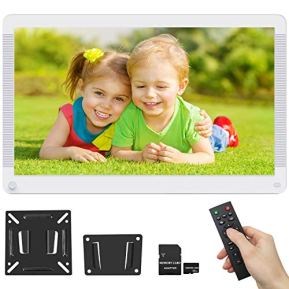 Digital-Picture-Frame-173-Inch-1920x1080-169-Ratio-Screen-Motion-Detection-Photo-Auto-Rotate-HD-Video-Frame-Background-Music-Auto-Play-Wall-Mountable-Remote-Controller-Include-32GB-SD-Card