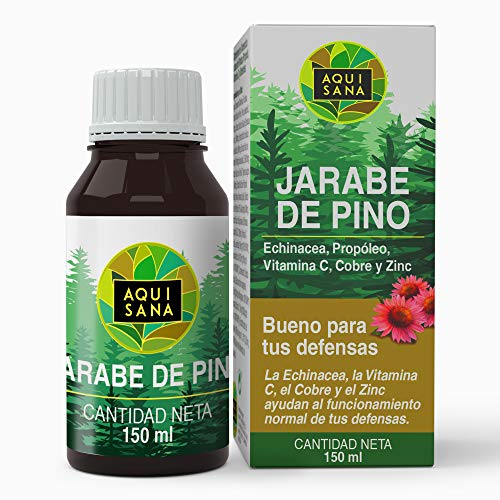 Kiefernsirup - Aquisana | Sirup mit Echinacea + Propolis + Vitaminen | Reduziert Hustenallergenfrei (150 ML)