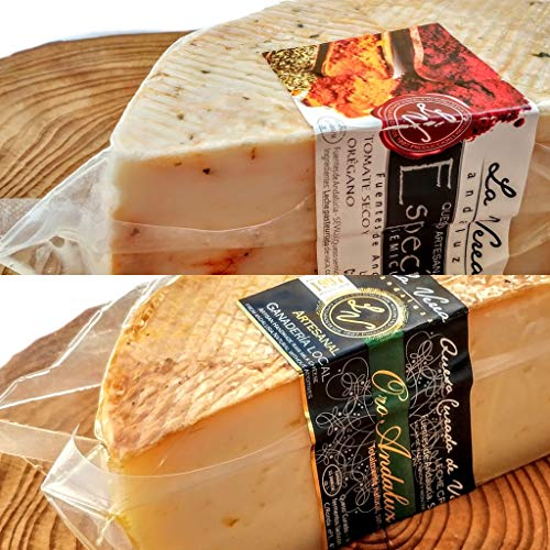 Degustación Quesos La Verea Andaluza. LOTE 5 (Queso 500g en ACEITE+ 500g Semicurado Cremoso) Packs combinados de quesos artesanos. 100% Natural