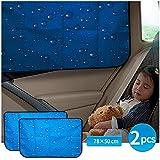 Aokway Pare-soleil de voiture double épaisseur pour fenêtre latérale arrière auto pare-soleil...