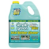 Simple Green Oxy Solve Total Outdoor Pressure Washer Cleaner - Removes Stains from Mold, Mildew & Dirt on Patios, Outdoor Rugs & Furniture - Cleans RVs, Boats & Vehicles  Concentrate 1 Gal.