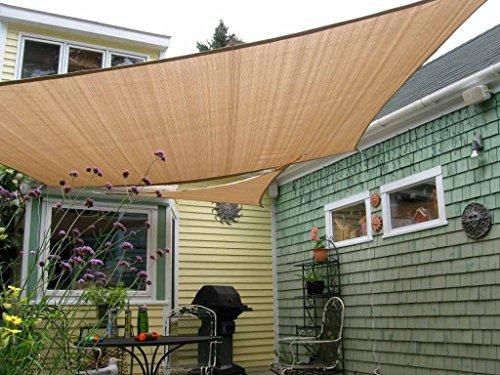 Shade&Beyond 8'x10' Sun Shade Sail Rectangle UV Block for Patio...