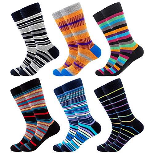BONANGEL Calzini di cotone Cotton Socks Finest pettinati da uomo Calze Fantasia Uomo Calze Lunghe in...
