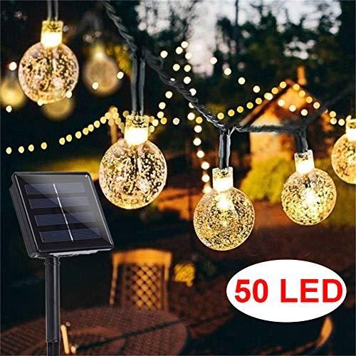 Garden Solar Lights, 50 LED 24ft 8 Modes Waterproof String Lights...