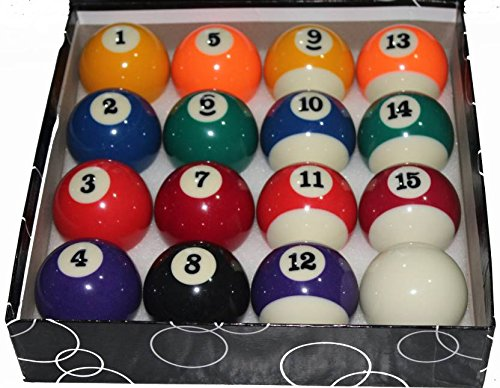 Generic Pool Ball Set (Set Of 16 Balls)