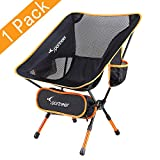 Chaise de Camping, Sportneer Portable Léger Pliable Camping Chaise pour Backpacking/ Randonnée/...