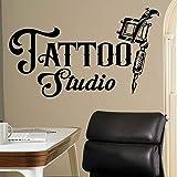 Etiqueta engomada de la pared del vinilo del tatuaje Etiqueta engomada de la pared del vinilo del logotipo de la empresa Yoga Studio India Meditación