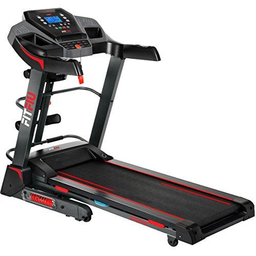 FITFIU Fitness HSM-MT12, Tapis Roulant Pieghevole con Inclinazione Automatica, 2200 W, Massimo 18 Km/h Unisex Adulto, Nero, M