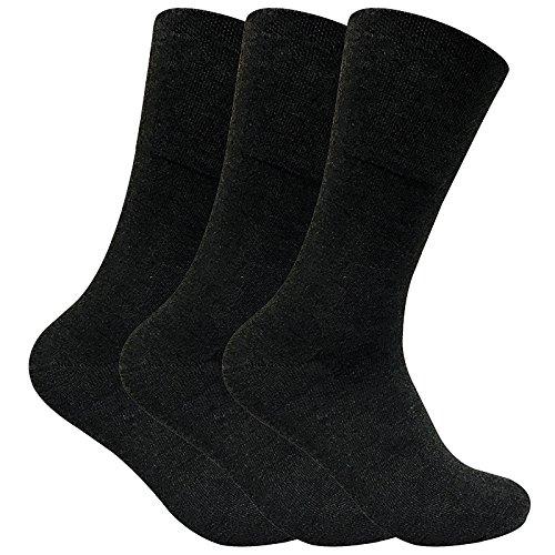 Sock Snob 3 paia uomo senza elastico calzini diabetici invernalii termici per la circolazione in 2...